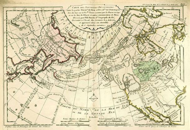 1753 world map by the French cartographer Philippe Buache.