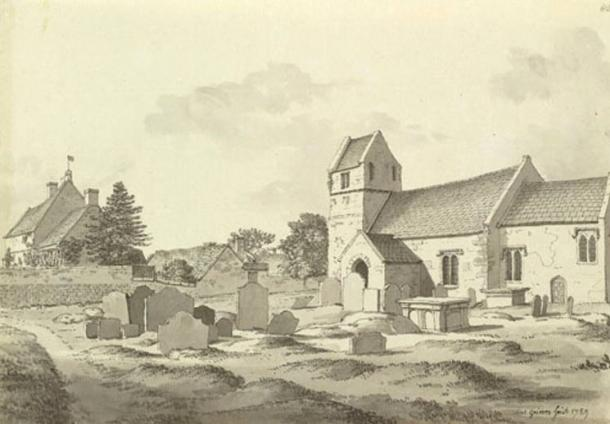 1789 sketch of Saltford Manor