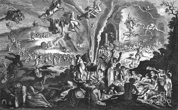 17th-century Witches' Sabbath engraving