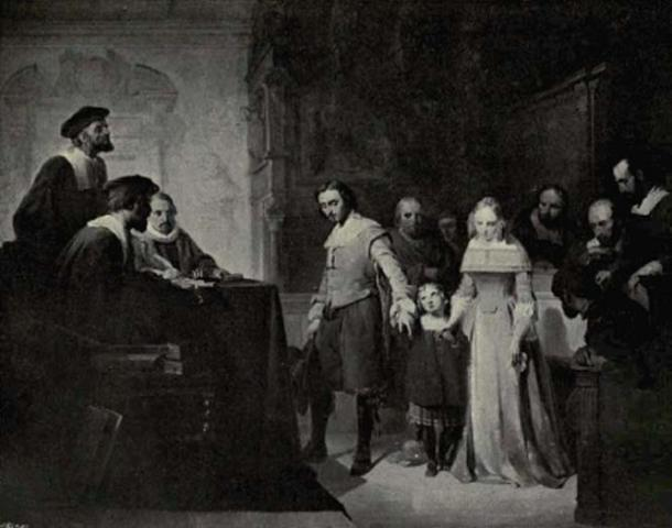 1846 painting 'The Divorce' by Jan Hendrik van de Laar.