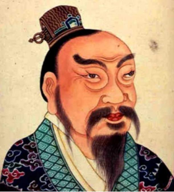 18th century representation of Liu Bang as Emperor Gaozu of Han.