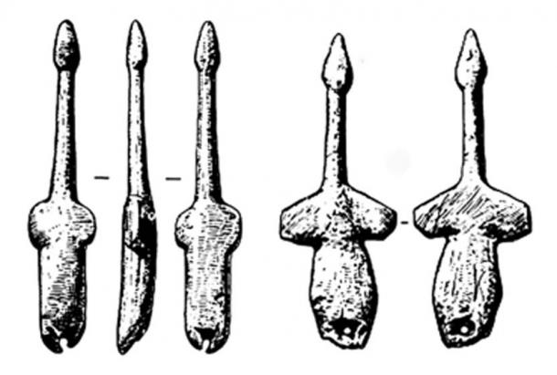 24,000-year-old swan pendants found at the site of Mal'ta in southern-central Siberia. (Picture courtesy: Andrew Collins)