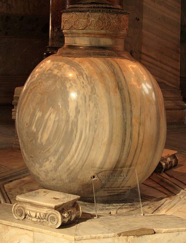 2nd Century alabaster urn