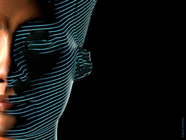 3-D scan of bust of Nefertiti. (CosmoWenman / CC BY-NC-SA 4.0)