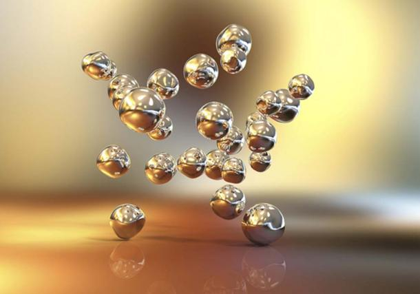 3D illustration of gold nanoparticles (Kateryna_Kon / Adobe Stock)