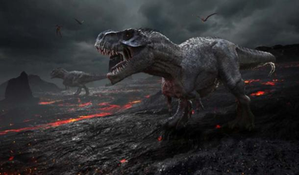 3D rendering of the extinction of the dinosaurs. (Herschel Hoffmeyer /Adobe Stock)