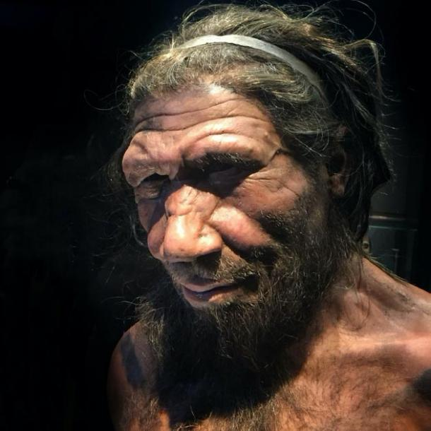 3D depiction of a Neanderthal from Natural History Museum, London. This is to show the type of early human that may left the 'devil's footprints'. (Allan Henderson / CC BY 2.0)