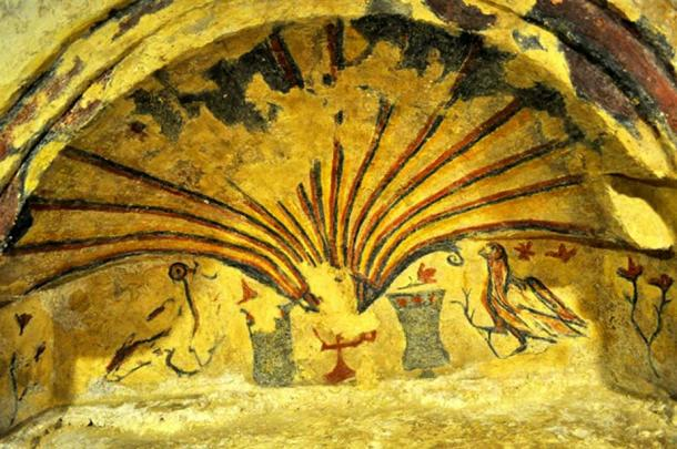 3rd century fresco in the inner chapel of the Maltese Catacombs. (Image: Peter J. Shields)