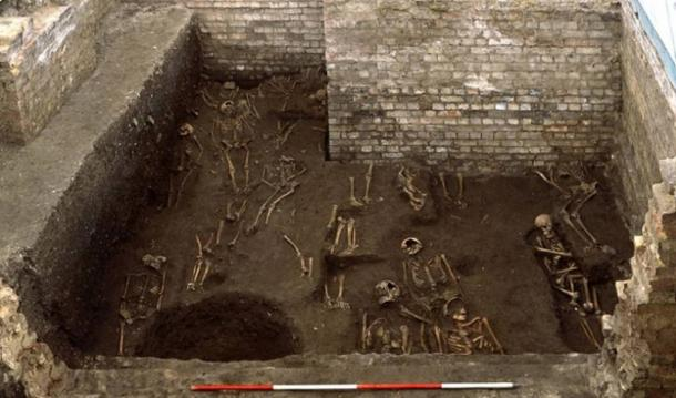 400 skeletons were found at the cemetery site at Cambridge University(Craig Cessford, Cambridge University Department of Archaeology and Anthropology)