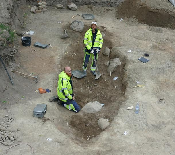 One of the Viking burial ships or boat graves found in Sweden. (Arkeologerna)