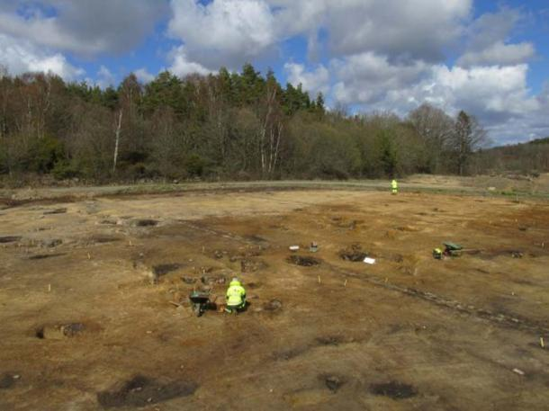 82 pits have been found in Sunnsvära, Sweden.
