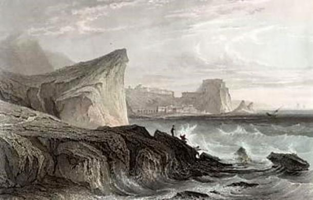 A 19th-century engraving of the Strait of Messina, the site associated with the sea monsters Scylla and Charybdis. (Mzilikazi1939 / Public Domain)