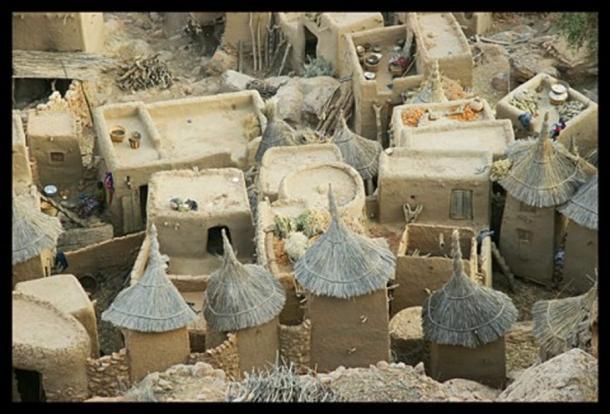 A Dogon village.