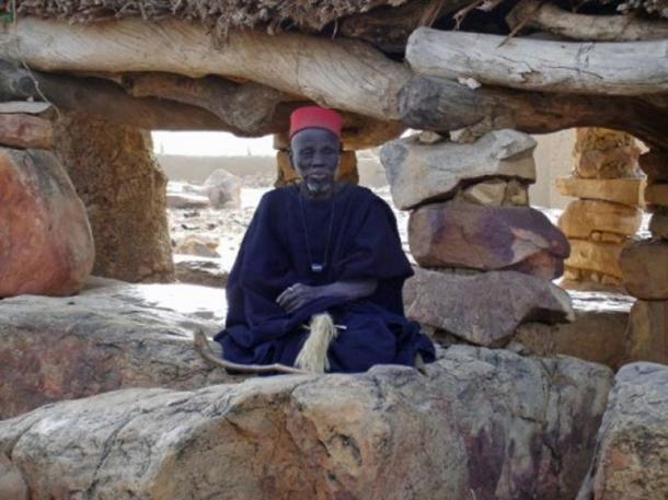 A Hogon, a Dogon spiritual leader.