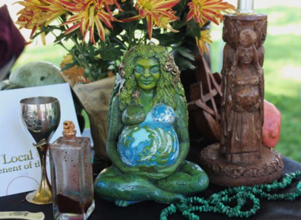 A Modern Pagan altar.