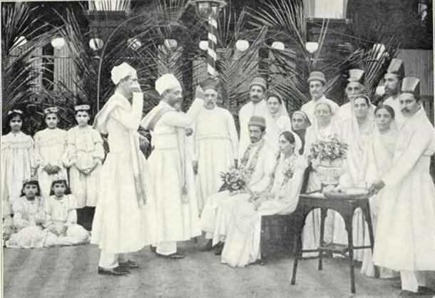 A Parsee Wedding, National Geographic, 1905.