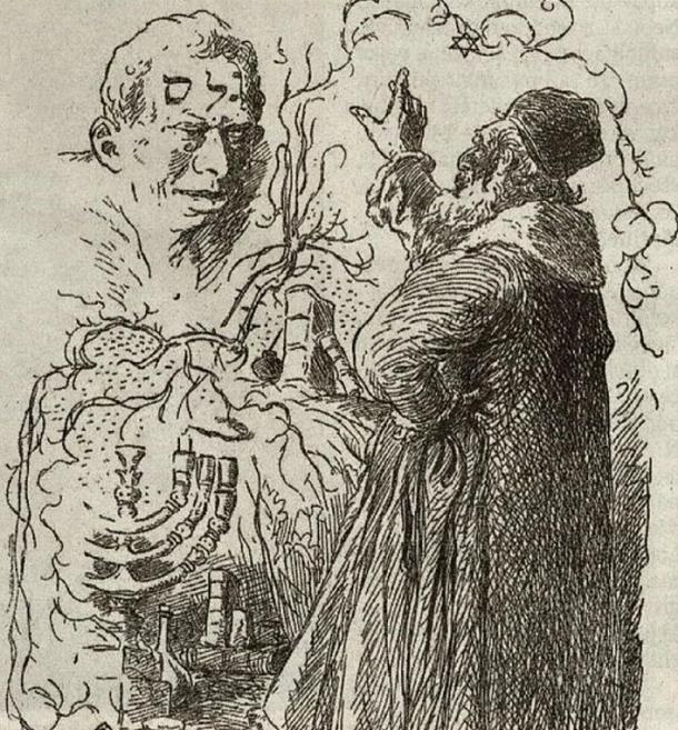 A Rabbi creates a golem