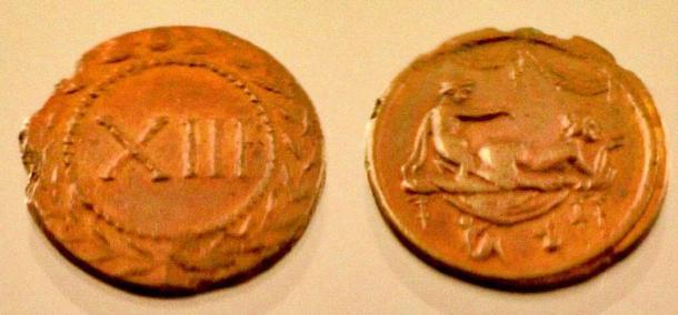 A Roman brothel token.