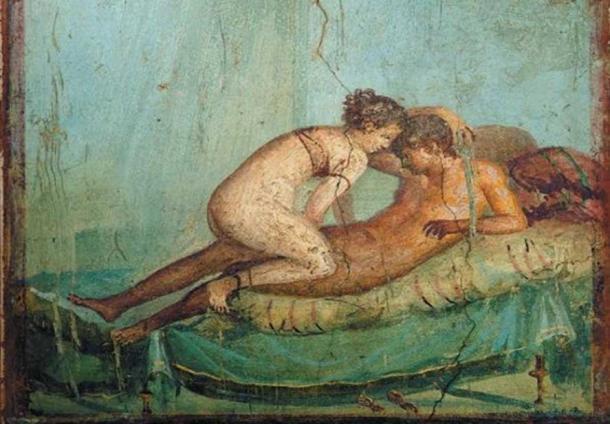 A Roman fresco found at Pompeii in Italy