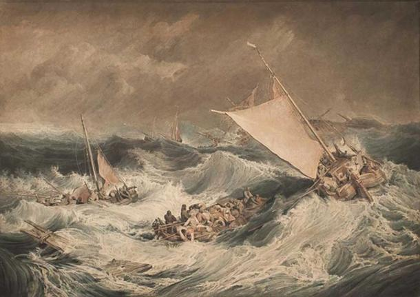 'A Shipwreck' (c. 1806) by Charles Turner.
