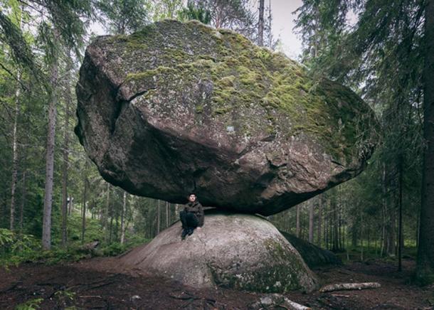 A Unique rock in the wilderness – the Kummakivi of Ruokolahti, Finland.