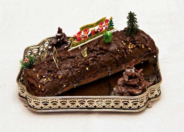 A Yule cake.