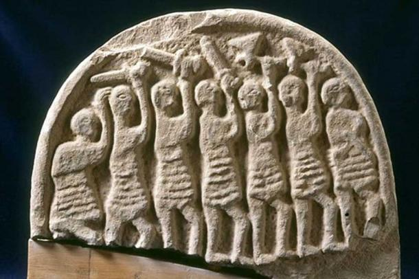 "A carved stone found on the island, known as the ""Doomsday Stone"", could represent the Viking attack on Lindisfarne"