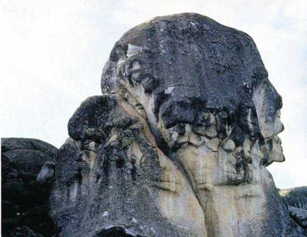 A carving of a human face or pareidolia at Marcahuasi?