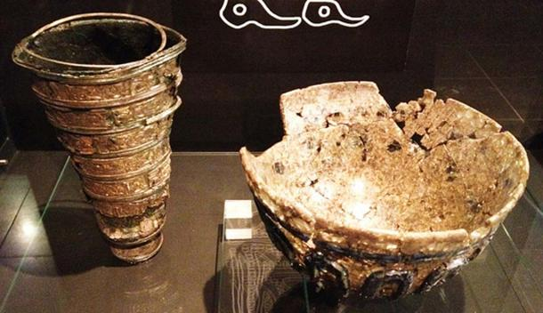 A chalice and bowl found in the iron age temple of Uppåkra, Sweden. (Hedning/CC BY SA 3.0)