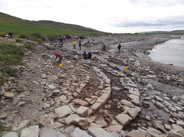 A chambered tomb that is being investigated at the Knowe of Swandro. (Image: Swandro - Orkney Coastal Archaeology Trust)