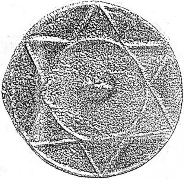 A circular metal disc with a six-pointed star symbol from the context of the Khazar Khanate, sometimes interpreted as Jewish but seen by others as shamanistic or pagan. The circular nature of the disc may represent the sun, and the 6 points may represent rays of the sun. (Public Domain)