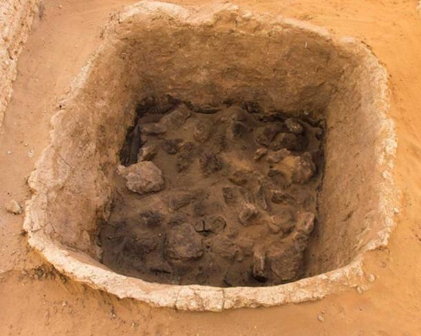 A clay tannour / oven found at Hili 2 in Al Ain. (Department of Culture and Tourism - Abu Dhabi)