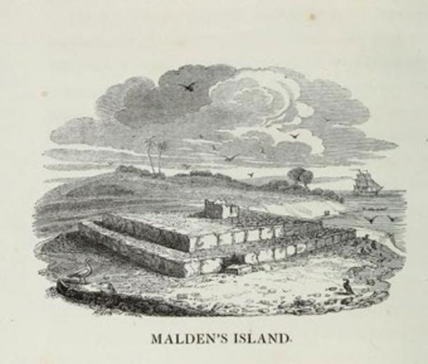 A drawing made in 1825 by ship artist Robert Dampier (Public Domain)