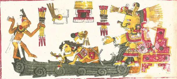 Un dibujo de Chalchiuhtlicue, una de las deidades descritas en el Codex Borgia. (Dominio público)