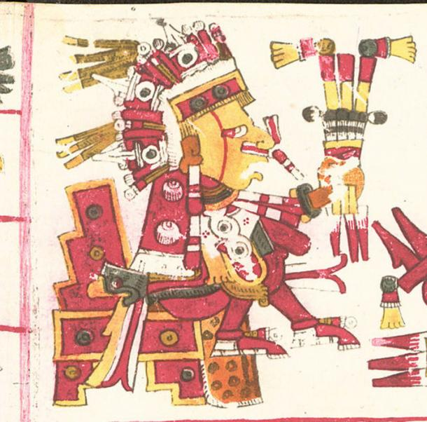 A drawing of Xipe Totec, one of the deities described in the Codex Borgia. (Public Domain)
