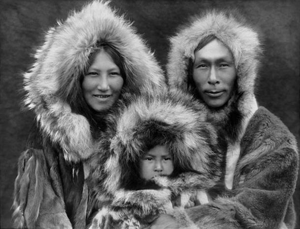 A family of Iñupiat from Noatak, Alaska, 1929 - by Edward S. Curtis.