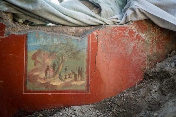 A fresco from the recently (re)discovered 'House of Jupiter'. (Image: Parco Archeologico Di Pompeii)