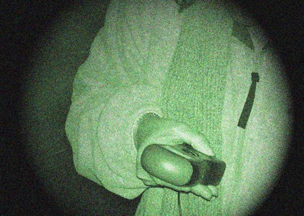 A ghost hunter taking an EMF reading - Electro Magnetic Field, which proponents claim may be connected to paranormal activity. (LuckyLouie / CC BY-SA 3.0)