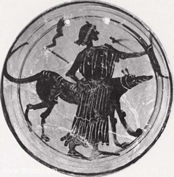 A goddess, probably Hekate or else Artemis, is depicted with a bow, dog and twin torches. (Public Domain)