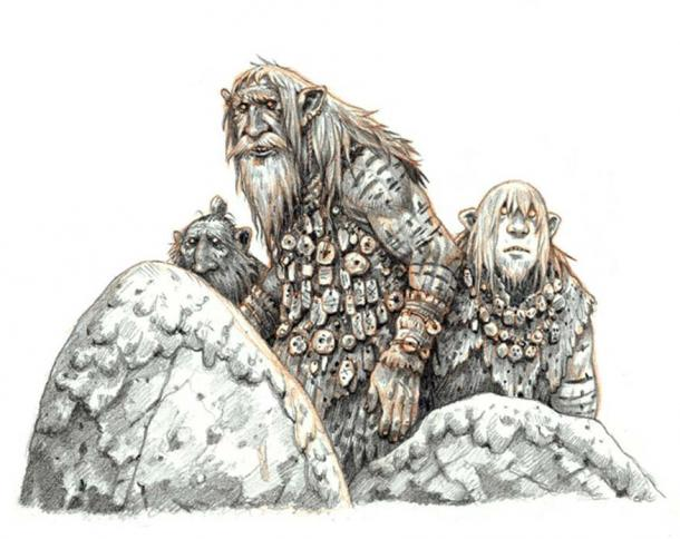 A group of Hiidet as illustrated by eoghankerrigan