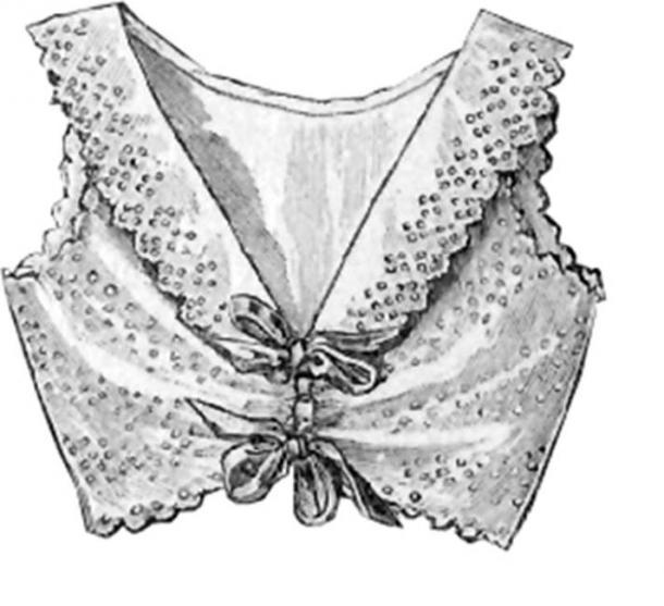 A lacey bra-like undergarment from December 1902 edition of 'La Mode Illustree', a women's fashion magazine. (Public Domain)