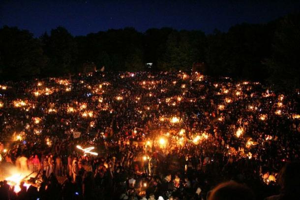 A large Walpurgis Night celebration in Heidelberg. (Andreas Fink/CC BY SA 2.0)