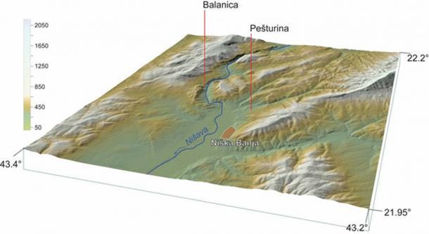 A map showing Pešturina's location. (Miloš Radonjić / Author provided)