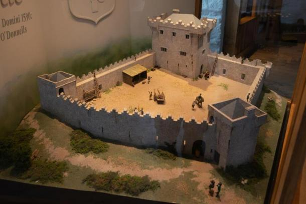 A model of Donegal castle showing what it once looked like. Credit: Ioannis Syrigos