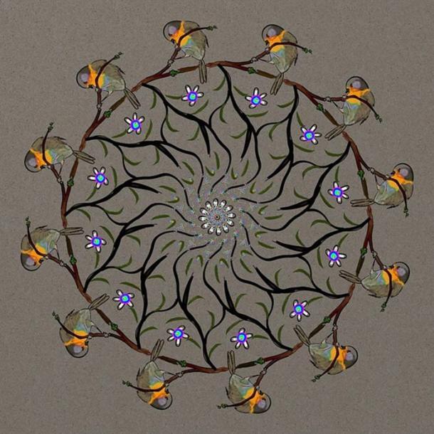 A modern interpretation of a mandala.
