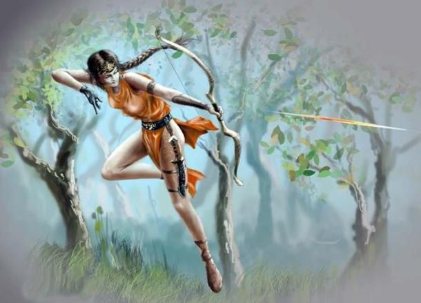A modern representation of the Greek huntress Artemis. (Геннадий Кучин /Adobe Stock)