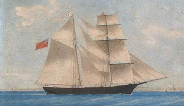 A painting of the Mary Celeste as Amazon in 1861. (Public Domain)