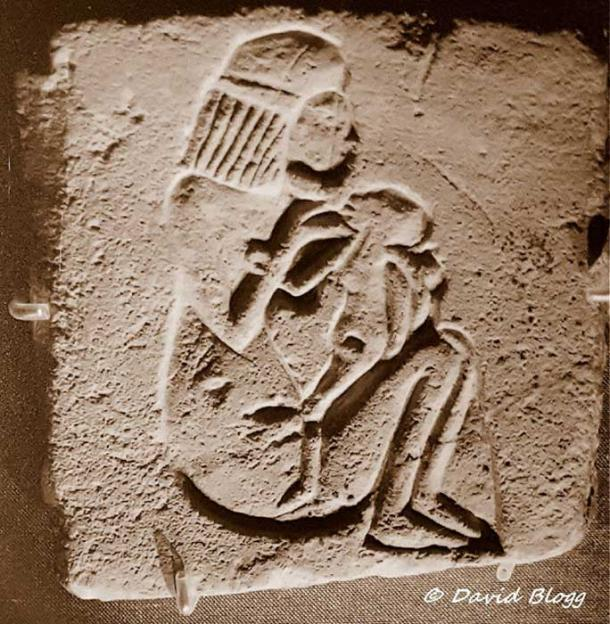 A rare limestone relief from Tell el-Amarna with a sunk relief representation of a squatting woman feeding her child. Death of newborns was commonplace in ancient Egypt. British Museum.