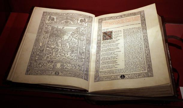 A relatively modern copy (ca. 1911) of Dante's Divine Comedy, a 16th century edition of which was stolen in the heist.