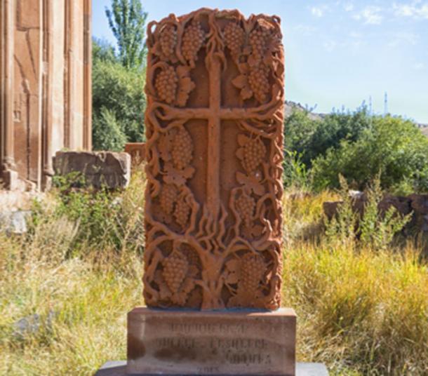 A reoccurring theme of the ancient khachkar is nature and botanic motifs. (Shchipkova Elena / Adobe Stock)